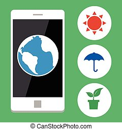 Ecology with mobile phone