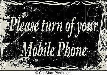 Silent Movie Frame Cell Phone - Extreme heavy grunge silent...