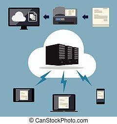 Cloud document data storage