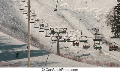 Skiing resort in Moscow area, Russia
