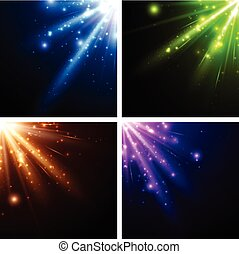 Abstract background set - Abstract background set with...