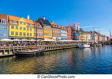 Copenhagen, Nyhavn - Nyhavn district is one of the most...