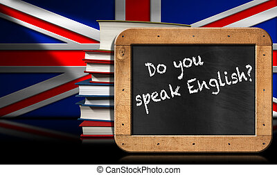 Do You Speak English - Blackboard and Books - Blackboard...