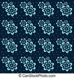 Floral pattern on seamless cloth.