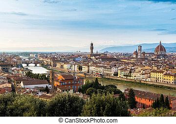 Panoramic sunset Florence