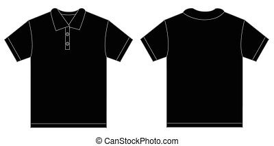 Black Polo Shirt Design Template For Men