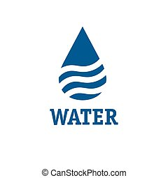 water drop with waves vector design template