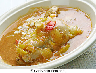 Groundnut Soup - West Africa Spicy Chicken Peanut Soup...