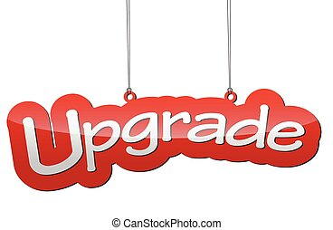 red vector illustration - background tag upgrade - This is...