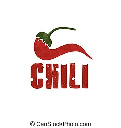 grunge chili pepper vector design template