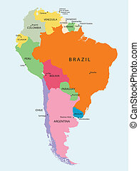 South America - Detailed map of South America