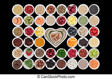 Superfood - Large healthy superfood collection in porcelain...