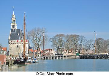 Hoorn,Ijsselmeer,Netherlands - Harbor of Hoorn at...