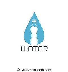 bottle of water vector design concept