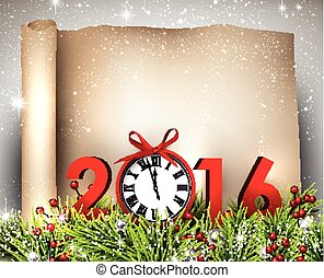 New Year 2016 background. - New Year 2016 background with...