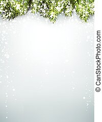 Winter xmas background - Winter xmas background with fir...