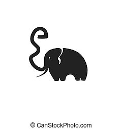 elephant with trunk in the form of a letter e