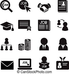 Silhouette Job icon Set