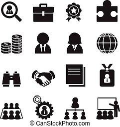 Silhouette Job icon Set