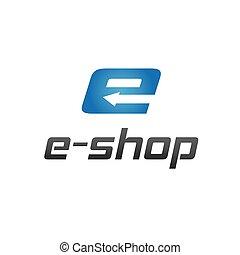 e shop vector design template