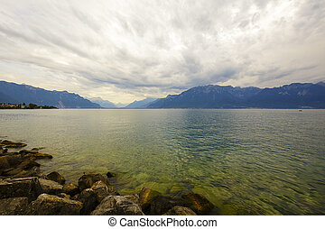 Clouds over lake Leman - Clouds over the lake Leman seen...