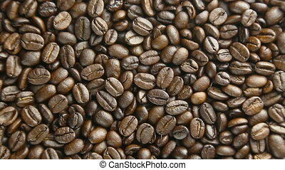 Coffee beans rotate