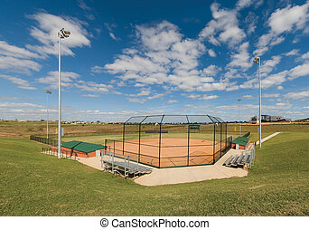 Panorama of Softball Field in Florida.