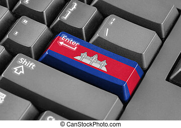 Enter button with Cambodia Flag