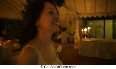 girl dancing at a wedding