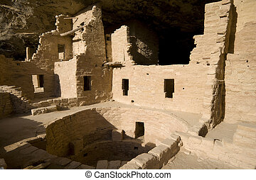 Indian ruins at Mesa Verde - Ancient Indian ruins at Mesa...