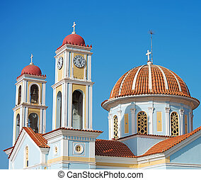 Ancient orthodox church in Greece, Crete.