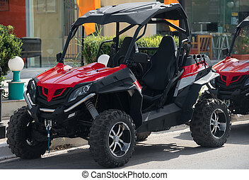 All-terrain vehicle rent on the street