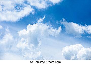 Beautiful rainclouds in the blue sky at Chiangmai city,...