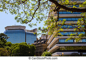 View from San Martin Square - Ministry of Foreign Affairs,...