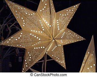 White glittering beautiful star shaped Christmas decoration