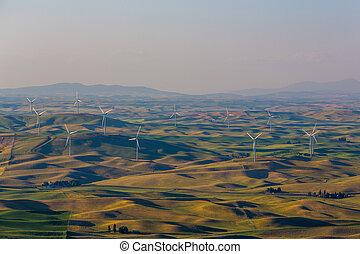 Palouse Wind Farm - A wind farm in the Palouse region of...