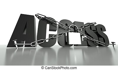 Access concept, safety padlock and chain