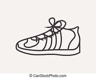 tennis shoes design - tennis shoes design, vector...