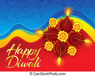 abstract deepawali background - abstract artistic deepawali...
