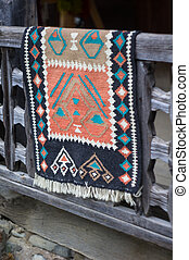 Old carpet - Traditional georgian old carpet outdoor the...