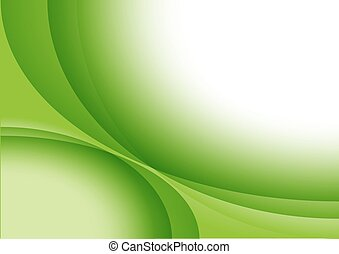 Green Abstract Background with Elliptical Stripes -...
