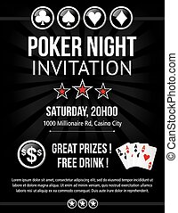 Poker event invitation design - Poker night event invitation...