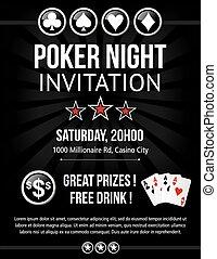 Poker event invitation design