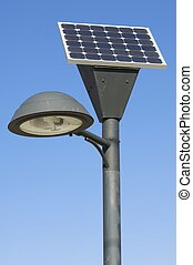 solar - lamp post and photovoltaic panel