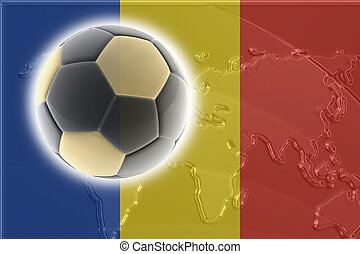 Flag of Romania soccer - Flag of Romania, national country...
