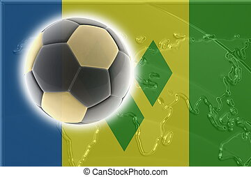Flag of Saint Vincent and Grenadines soccer - Flag of Saint...