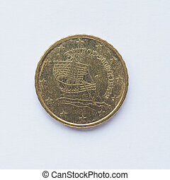 Cypriot 10 cent coin - Currency of Europe 10 cent coin from...