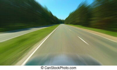Speed. Car on the road