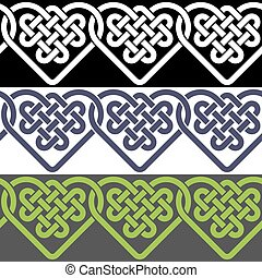 Seamless patterns of Celtic knots - A seamless pattern made...