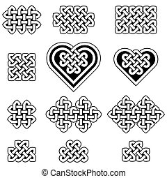 A collection of Celtic knots, vector illustration isolated...